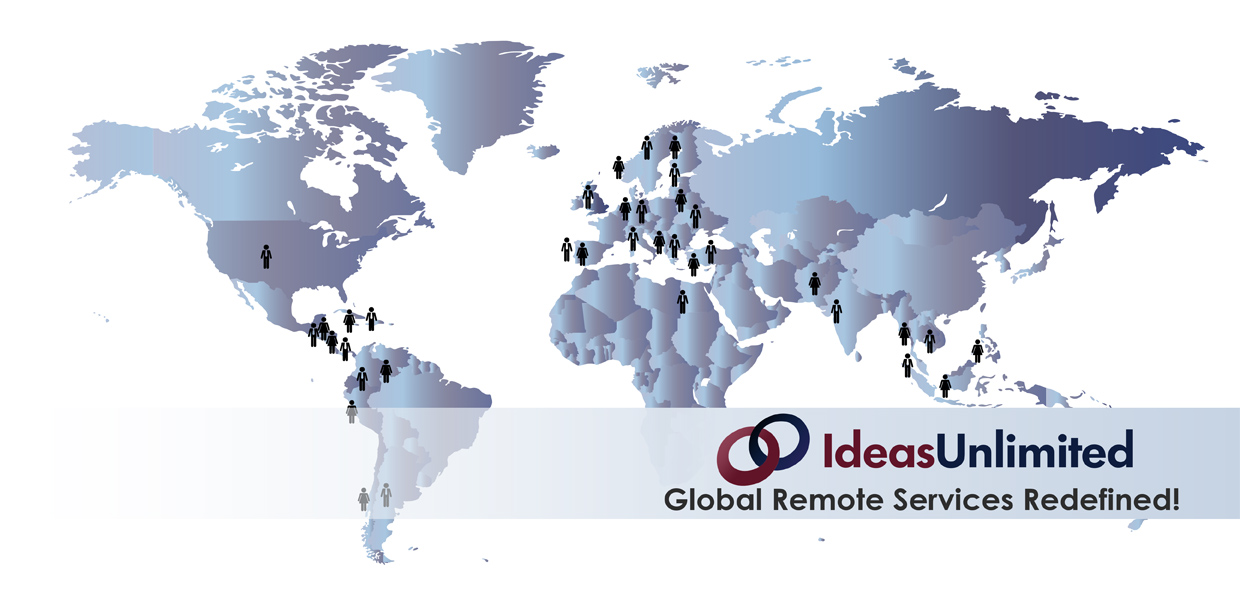 IdeasUnlimited has a remote team from all over the globe