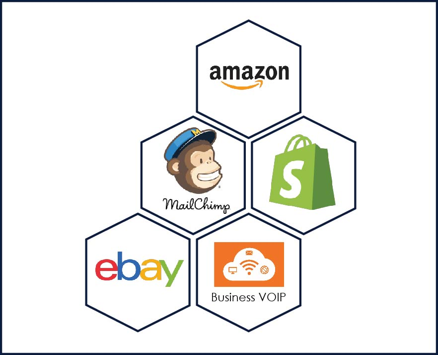 IdeasUnlimited has experience with Amazon, Shopify, MailChimp, Business VOIP, and ebay