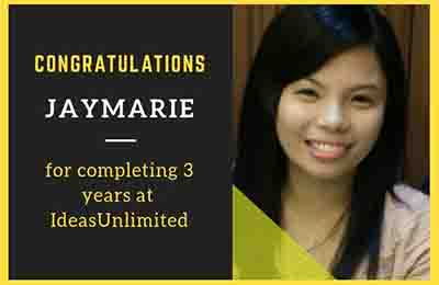 Jaymarie third work anniversary at IdeasUnlimited