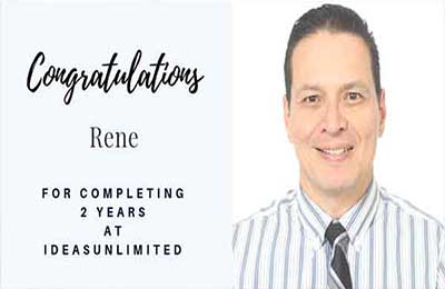 Rene 2nd work anniversary at IdeasUnlimited