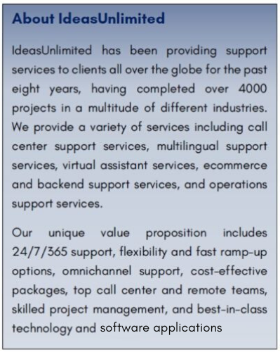 About IdeasUnlimited