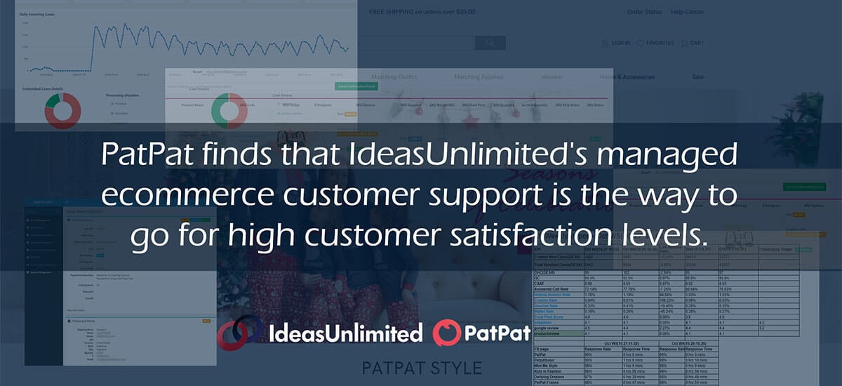 IdeasUnlimited's managed ecommerce customer service for PatPat
